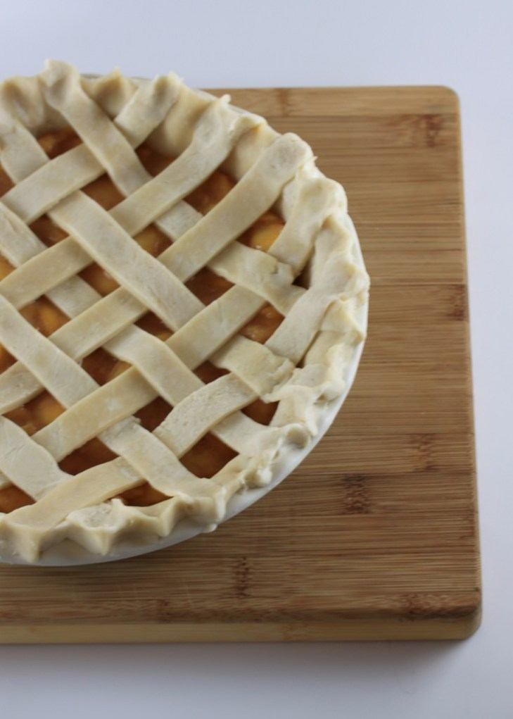 Peach Lattice Pie 2