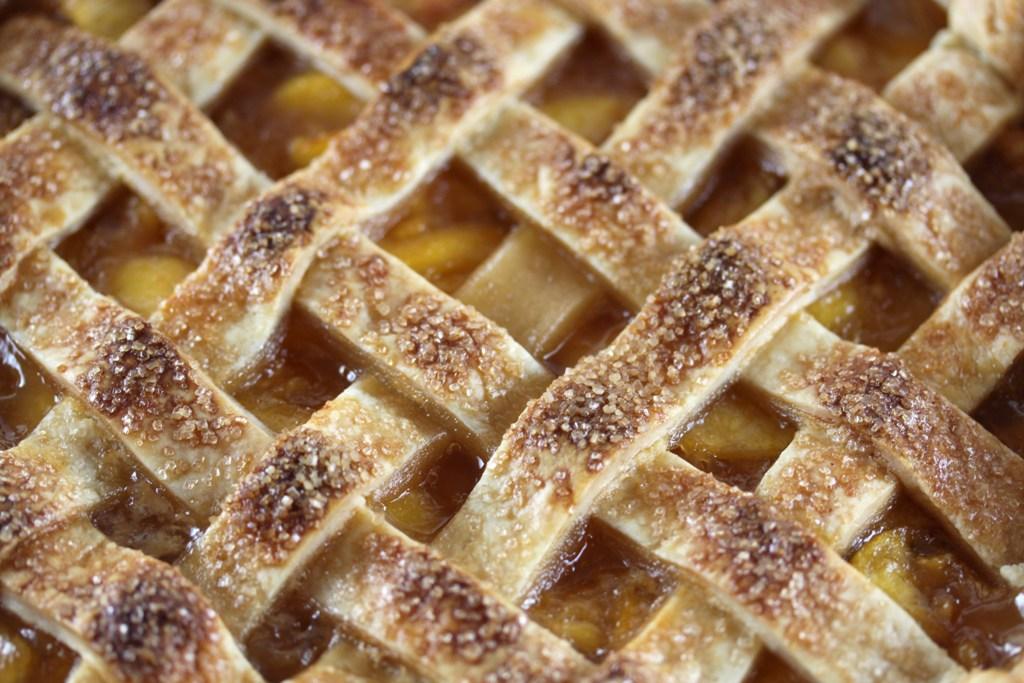 Peach Lattice Pie Recipe — Dishmaps