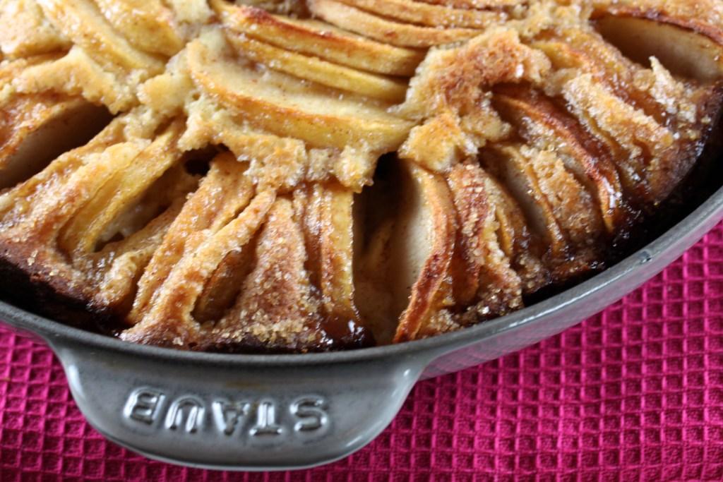 Cinnamon-Sugar Apple Skillet Cake Recipe — Dishmaps