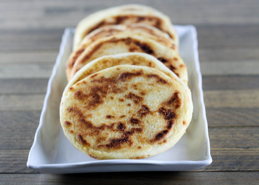 Cheese-Stuffed Colombian-style Arepas Recipe — Dishmaps