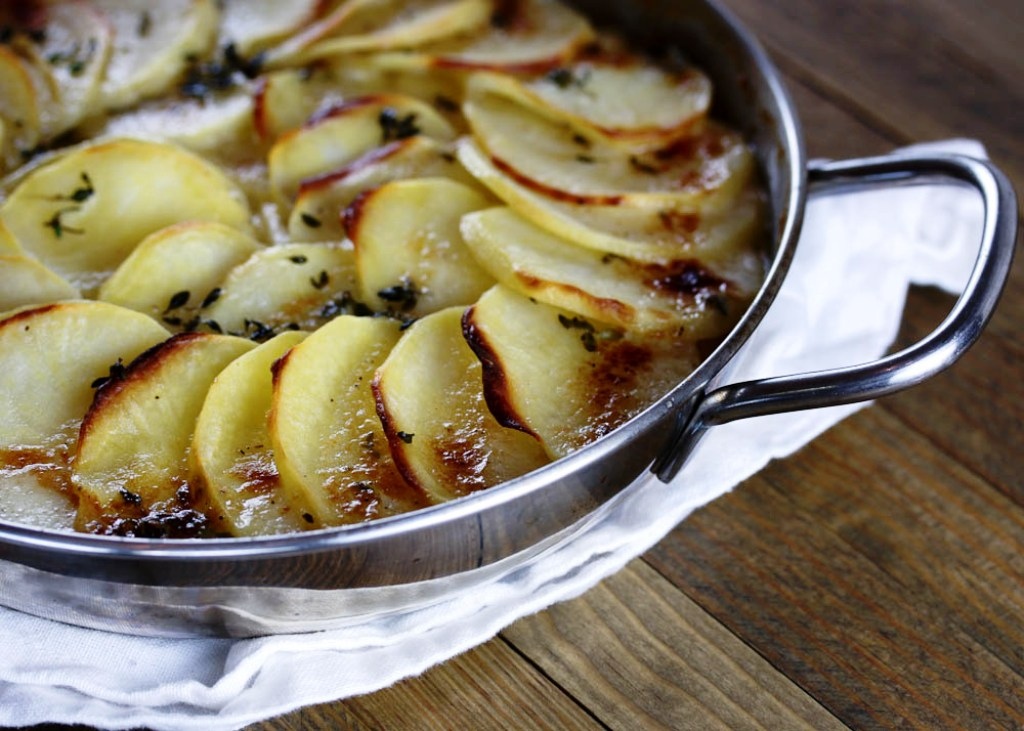 Recipes for Fall: Golden Potato Gratin, and Chicken Quarters Roasted ...