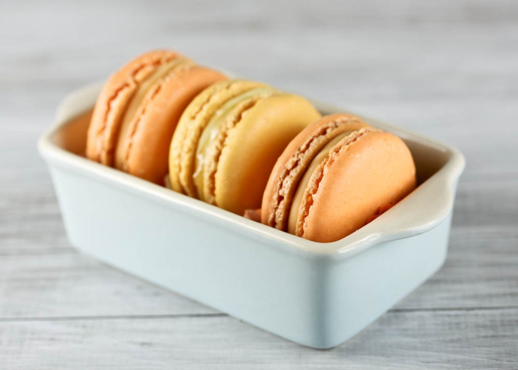 Blood Orange and Meyer Lemon Macarons | One Vanilla Bean