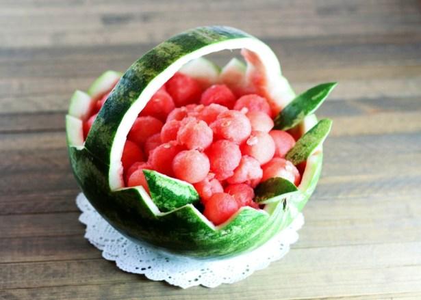 ... & Vodka Summer Drink, plus a Watermelon Basket! | One Vanilla Bean