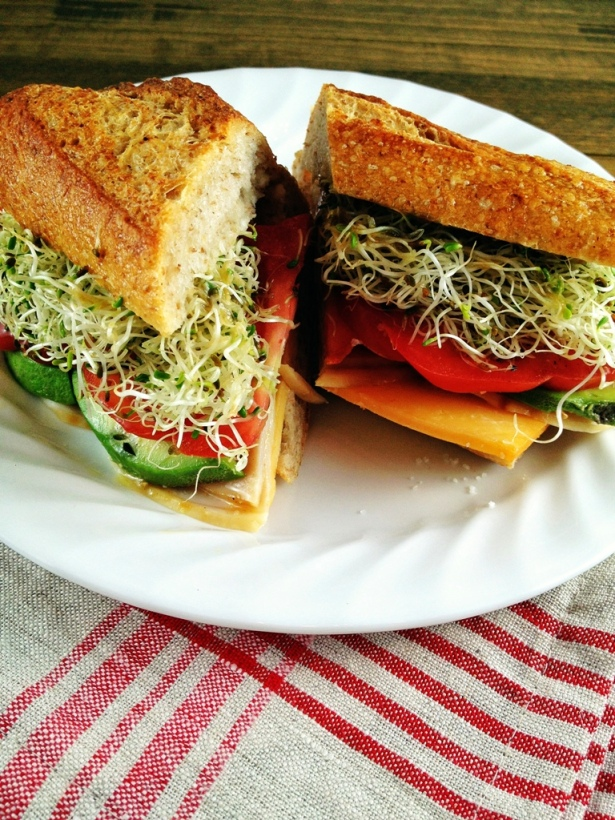 Sandwich with Alfalfa Sprouts