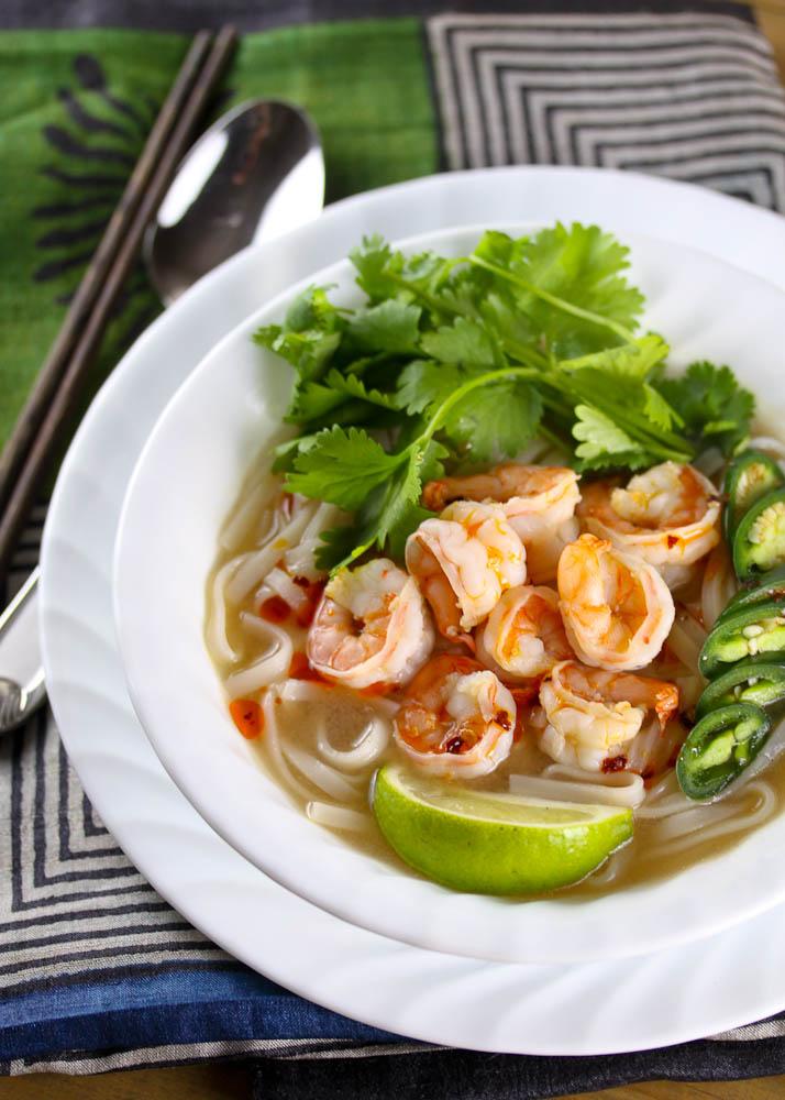 Shrimp and Rice Noodle Soup