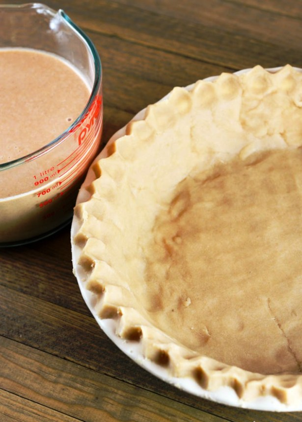 Brown sugar no roll pie crust