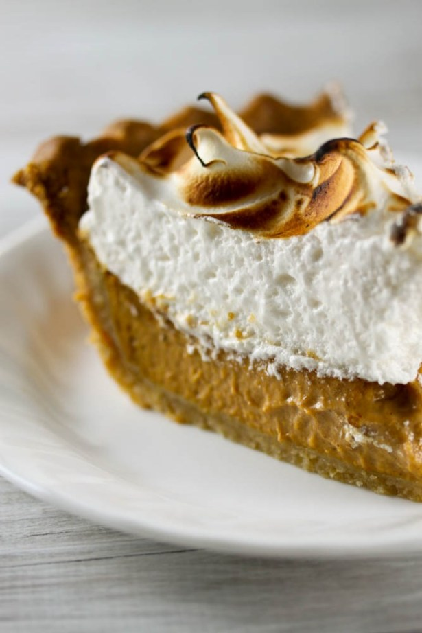 Pumpkin Meringue Pie Slice
