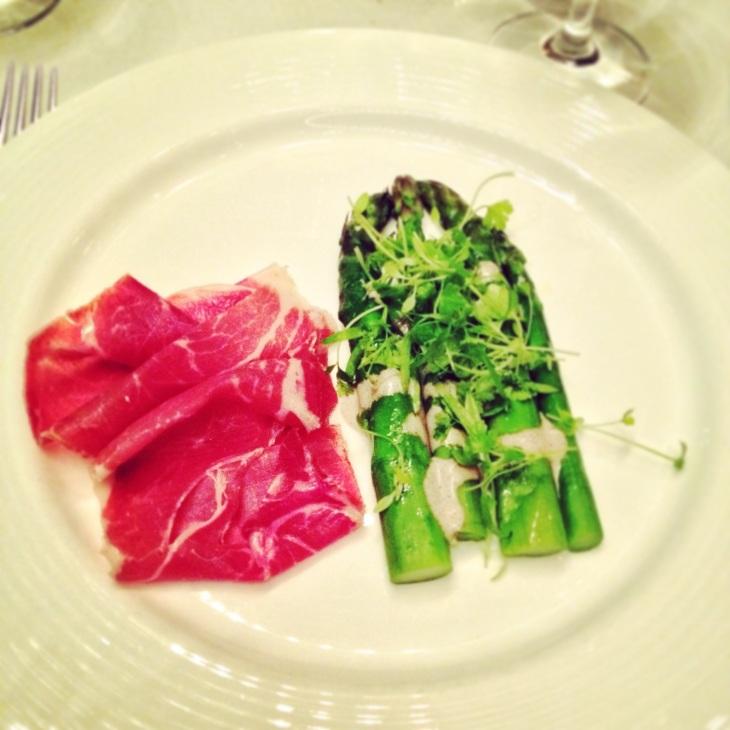 Mangalica and Asparagus
