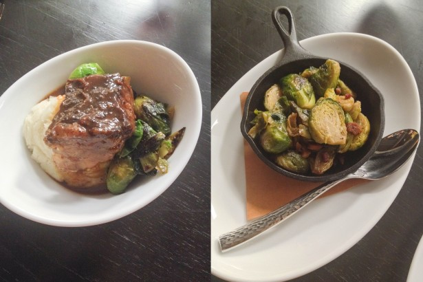 Short Ribs and Brussels Sprouts with Bacon