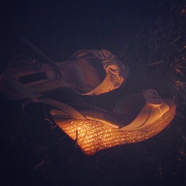 At the end of the evening, I was ready to kick off my white espadrille wedges and go barefoot on the lush grass.