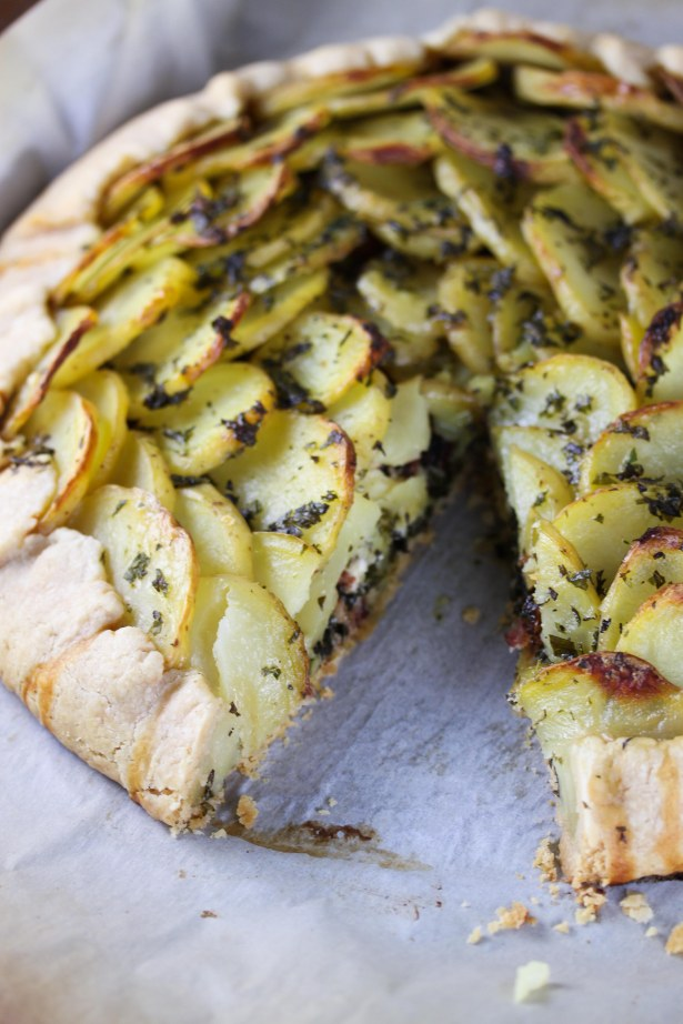 Kale and Potato Galette 1