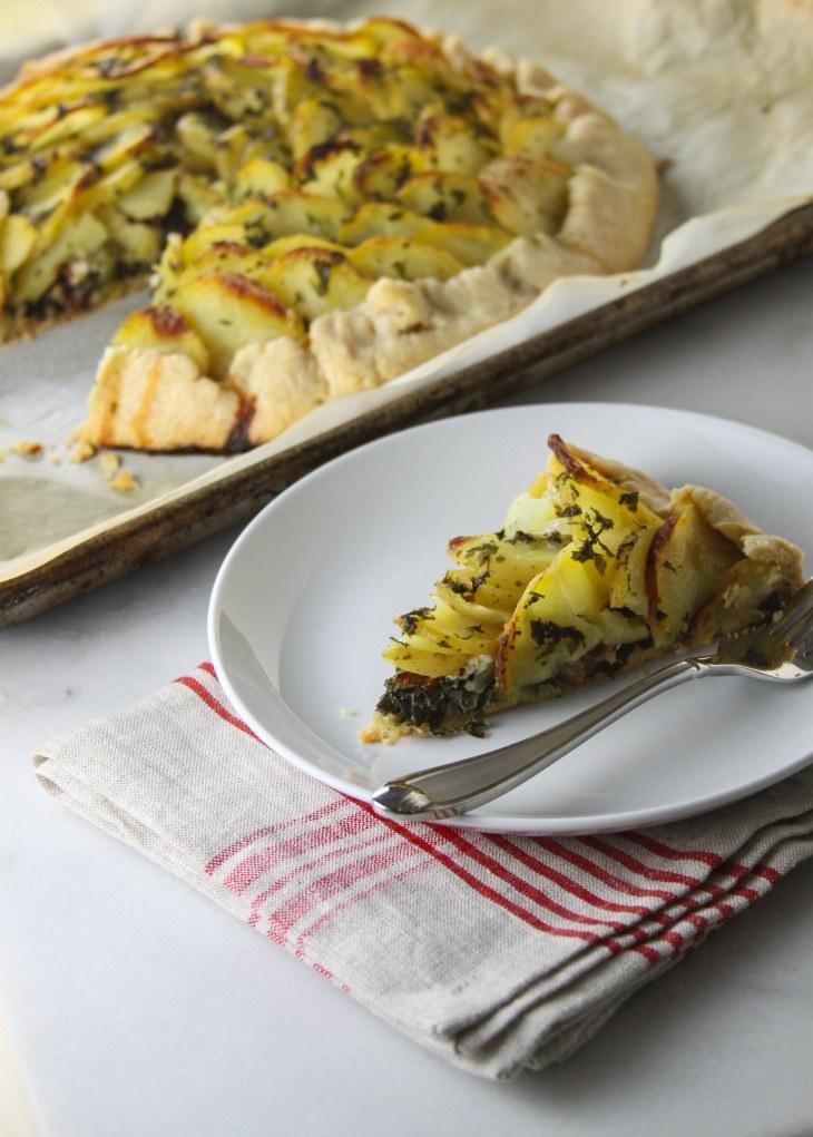 Potato and Kale Galette