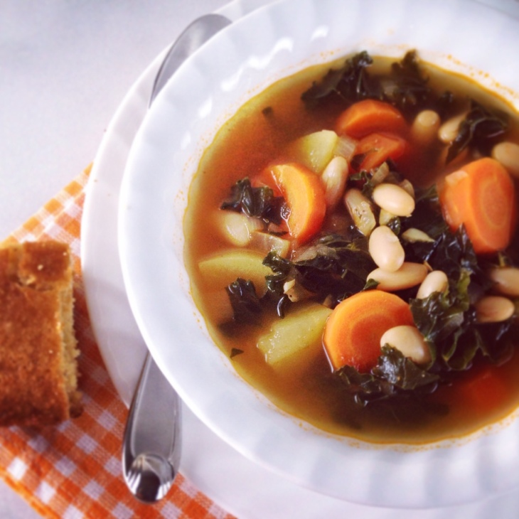 Quick Kale and Cannellini Bean Soup