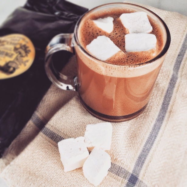 Hot Chocolate with Early Grey Tea and Home-Made Marshmallows