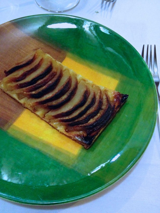 A simple but delicious house made apple tart.