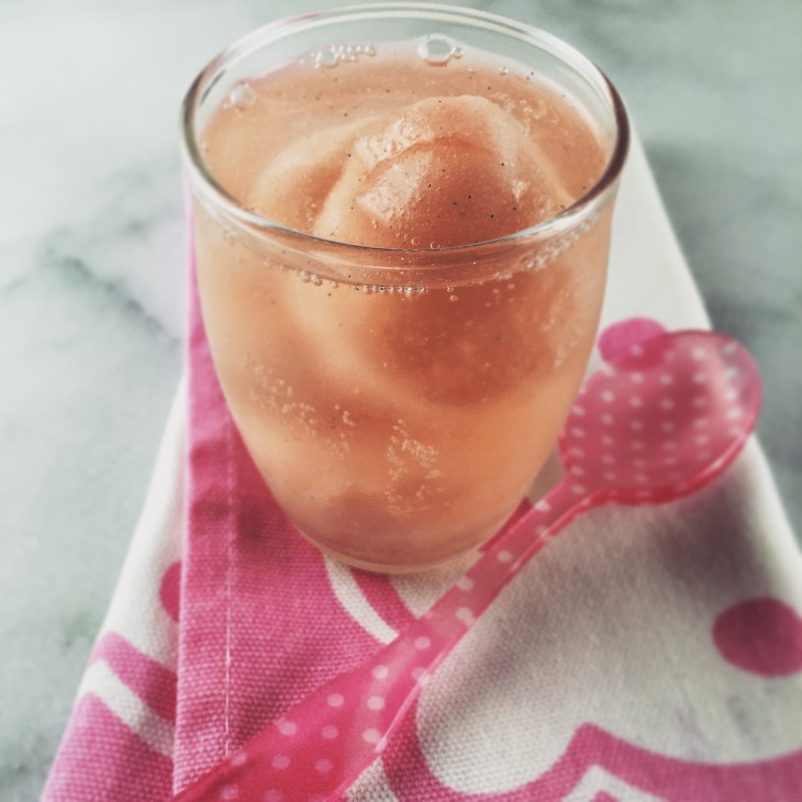 Pink Grapefruit Sorbet and Sparkling Wine