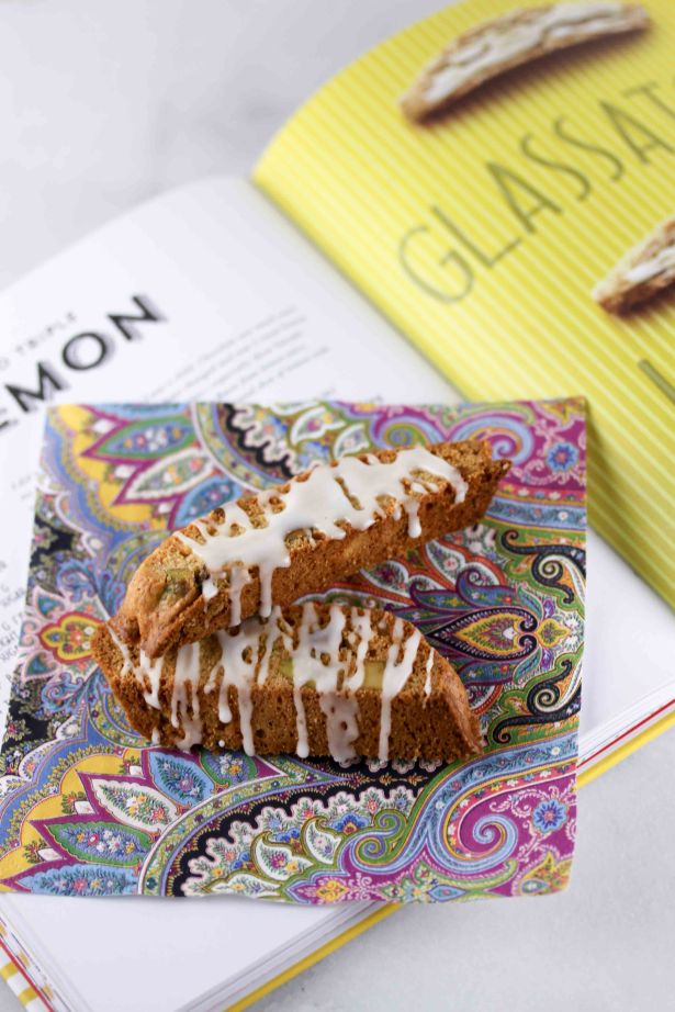 Iced Triple Lemon Biscotti from Ciao Biscotti