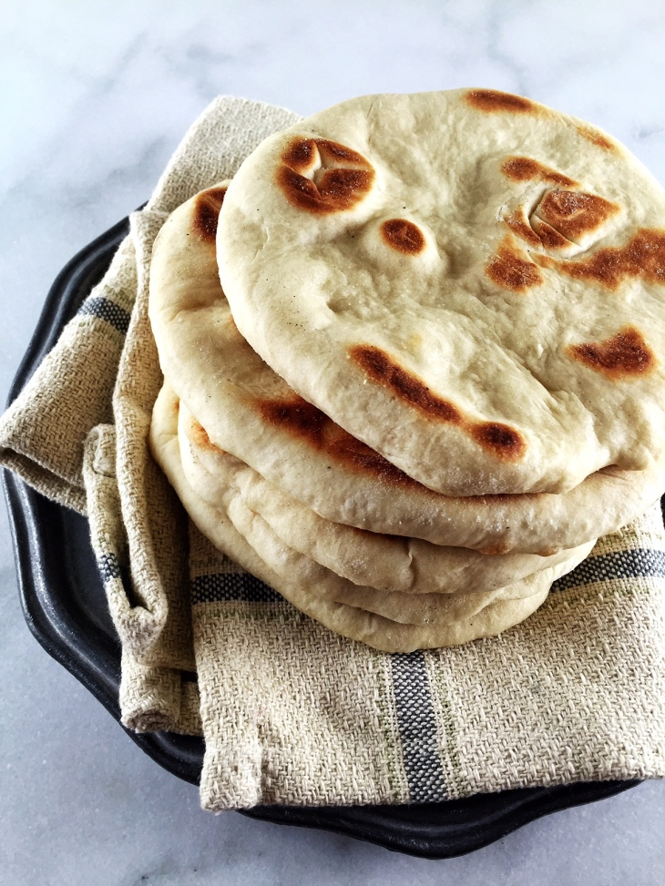 A stack of naan