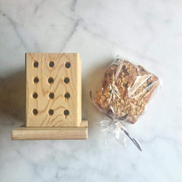 Pollinator Bee Hotel and Honey Wheat Walnut Bread