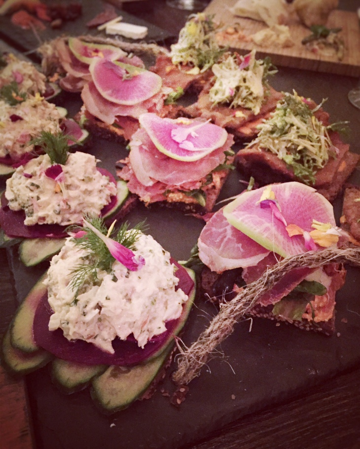 Assorted Open Faced Sandwiches at Ambar