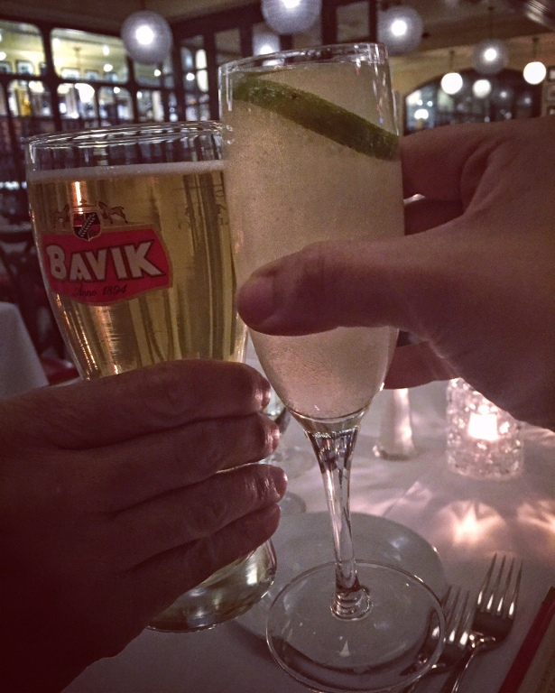 Cheers at LHommage Bistro