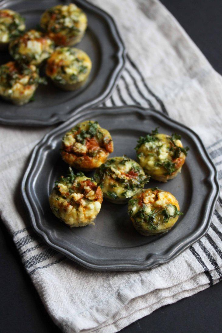Mini Egg Muffins with Sun-Dried Tomato Pesto and Feta
