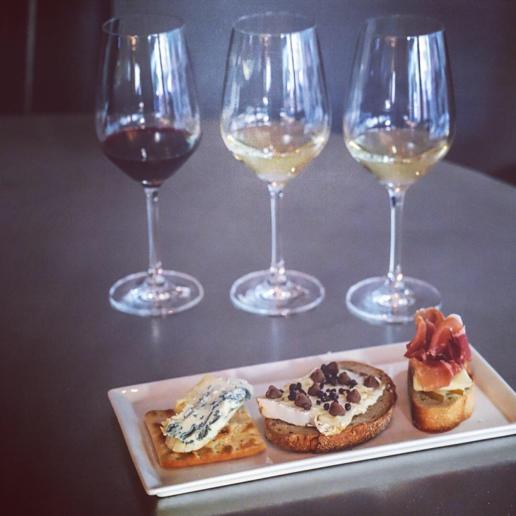 Cheese and Wine Flight at Opaline DC